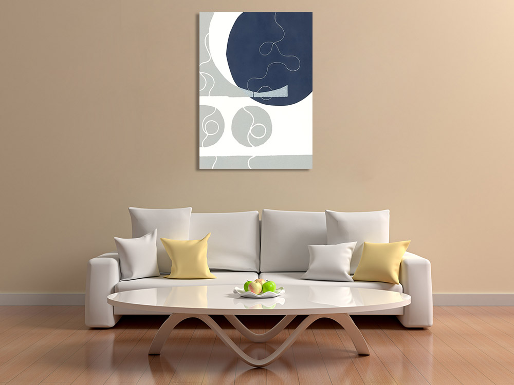 Abstract Shapes Lines Canvas Print