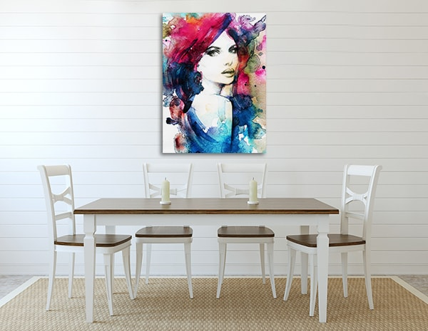 Model Portrait Art Print on the Wall