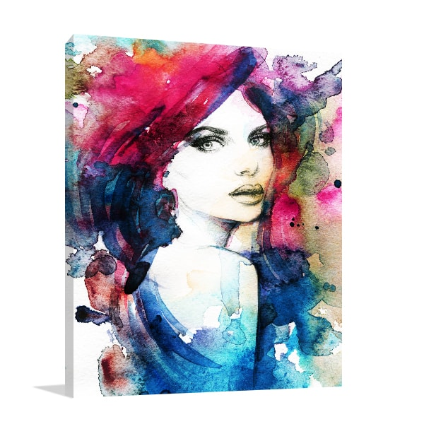 Model Portrait Canvas Prints