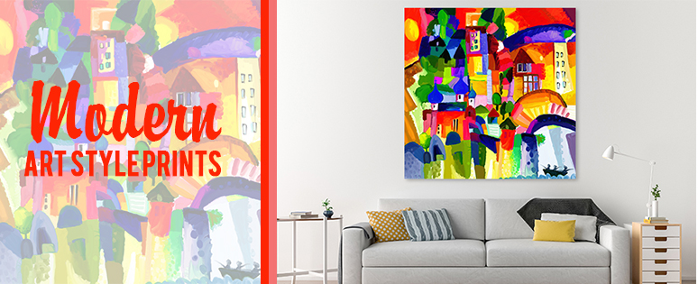 Modern Art Style Prints on Canvas For Sale