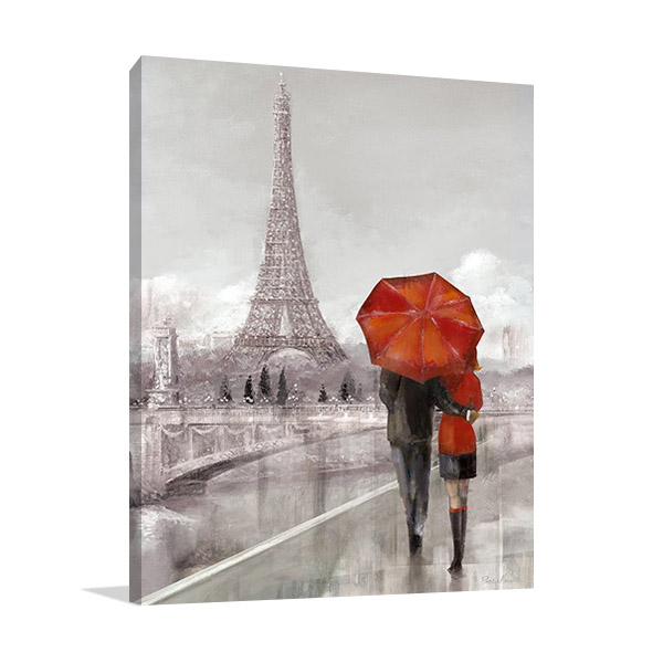 Couple Paris Wall Print