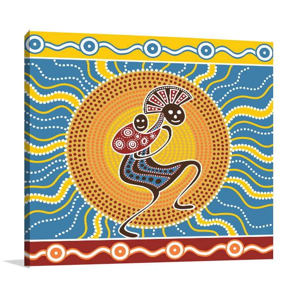 Mom and Baby Aboriginal Wall Art
