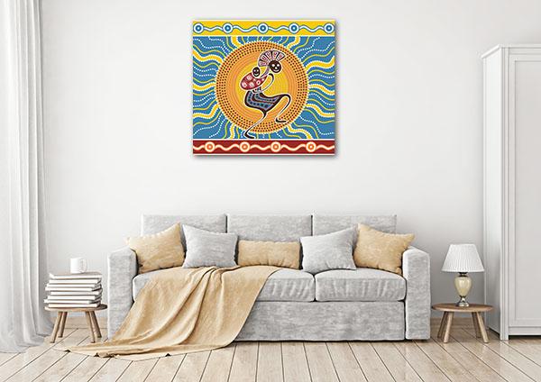 Mom and Baby Aboriginal Canvas Prints
