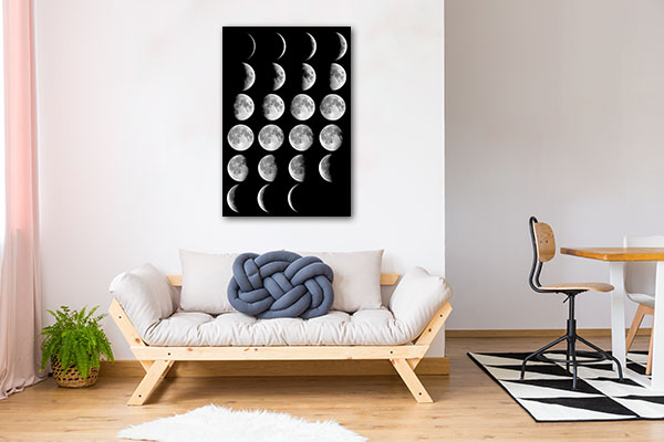 Moon Cycle Prints Canvas