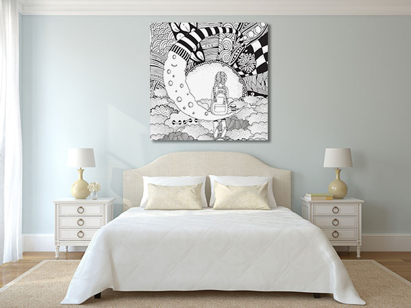 Moon Girl Canvas Prints