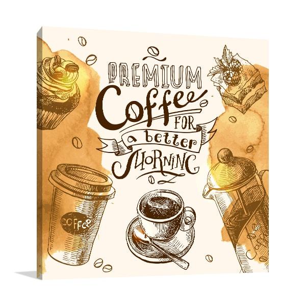 Morning Coffee Prints Canvas