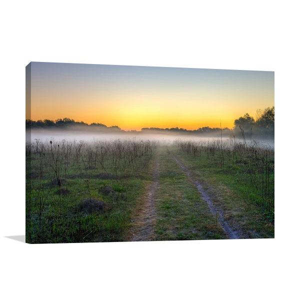 Morning Mist Print on Canvas