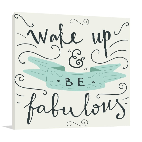 Morning Quote Prints Canvas