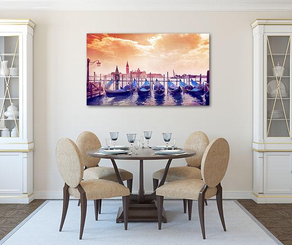 Morning Sun In Venice Canvas Prints