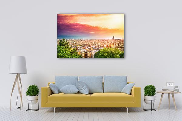 Mornings in Paris Prints Canvas