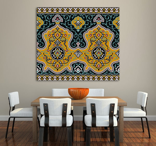 Mosaic Antique Print Artwork