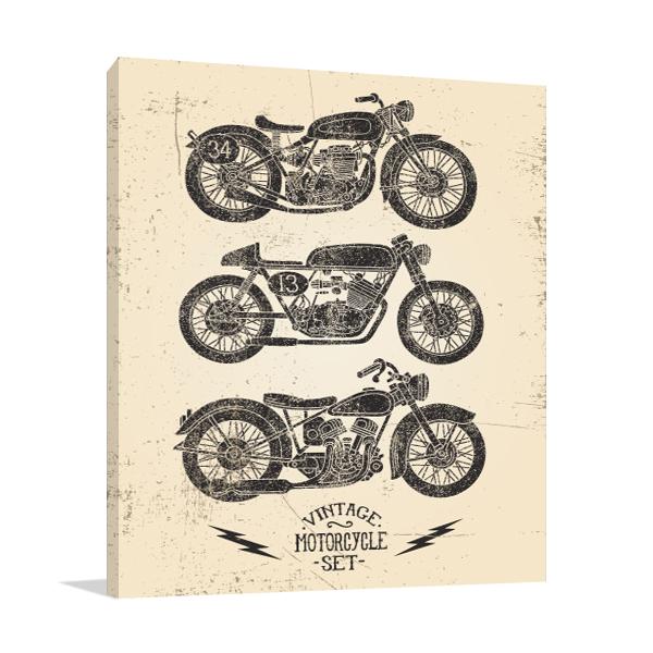 Motorcycle Set Art Prints