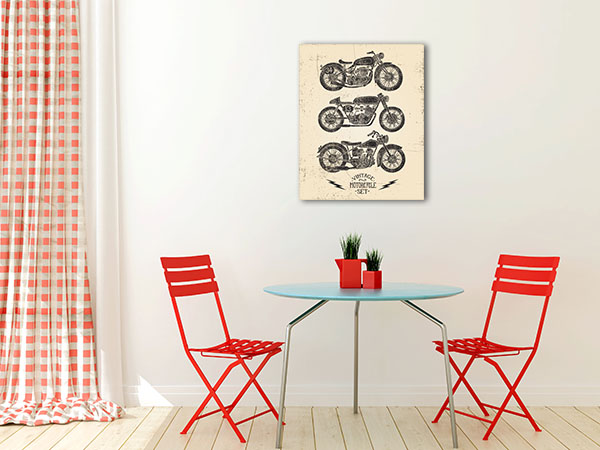Motorcycle Set Wall Art