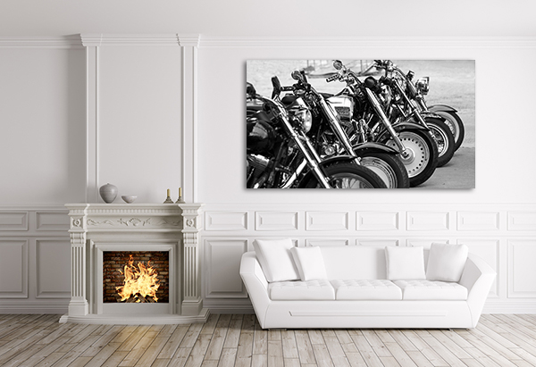 Motorcycles Canvas Art Print on the wall