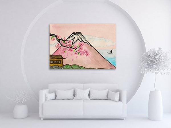 Mount Fuji Print Artwork on the Wall