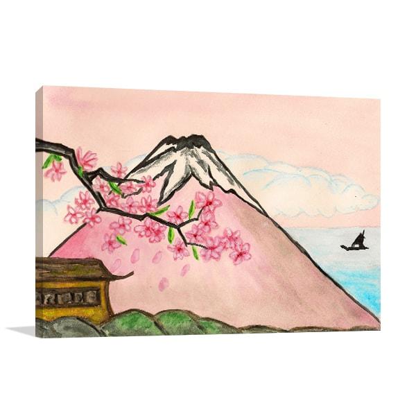Mount Fuji Print Art Canvas