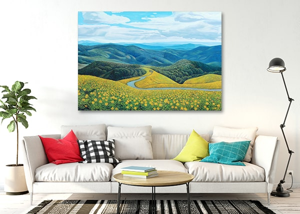 Mountain top Canvas Prints on the Wall
