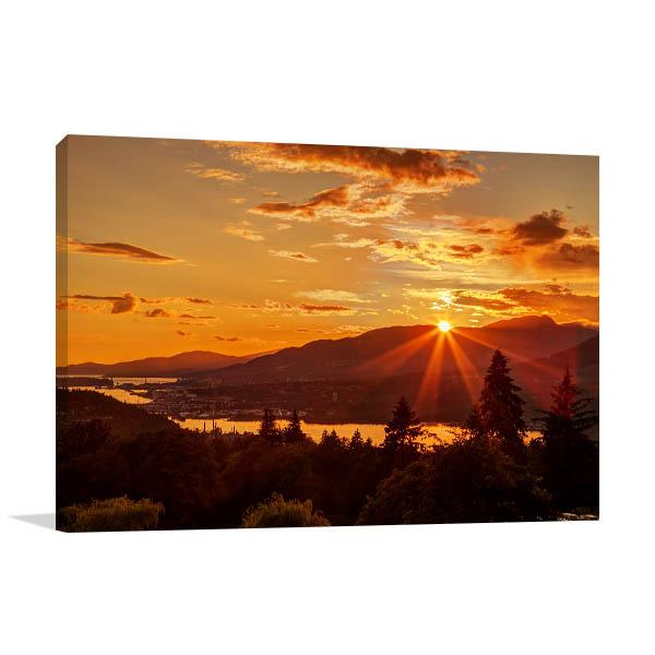 Mountain Top Sunset Canvas Art