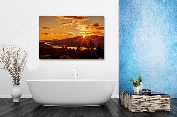 Mountain Top Sunset Canvas Art Prints