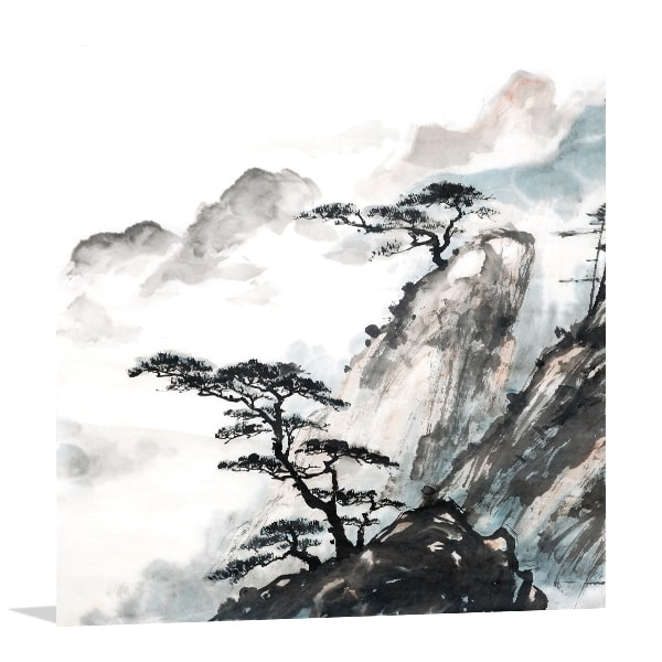 Mountain Trees Print Artwork