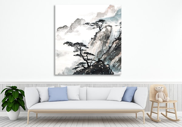 Mountain Trees Wall Art