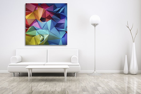 Multicolour Geometric Prints Canvas