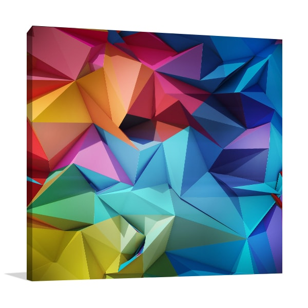 Multicolour Geometric Print Artwork