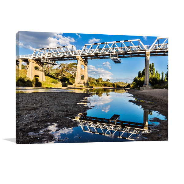 Murrumbidgee River Art Print NSW Reflection Artwork Picture