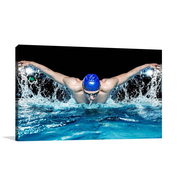 Muscular Swimmer Artwork