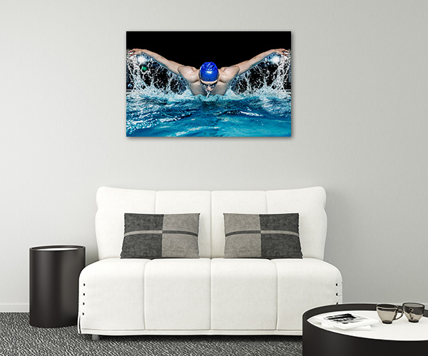 Muscular Swimmer Prints Canvas
