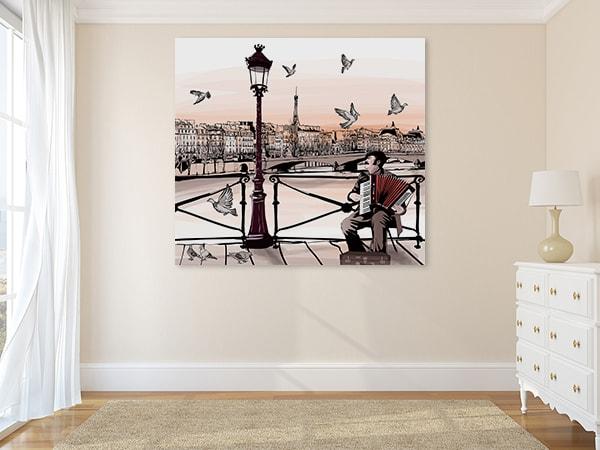 Music and Paris Print Artwork