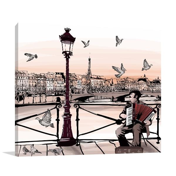 Music and Paris Canvas Prints