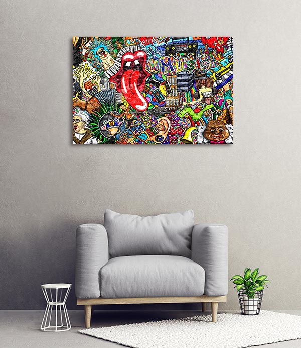 Music Collage Canvas Prints