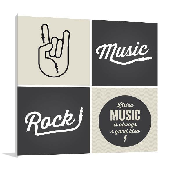 Music Design Canvas Art Prints