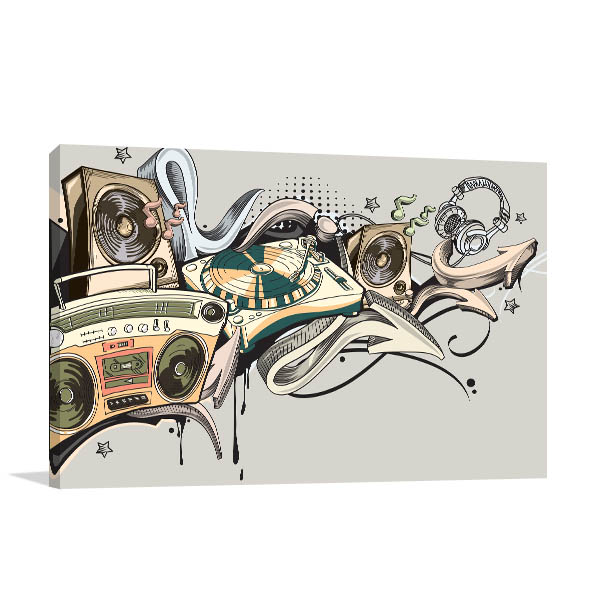Music Graffiti Canvas Art Prints