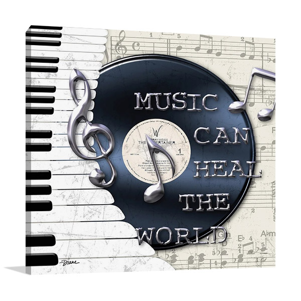Music Heal the World Print Canvas