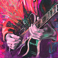 Hand Painted Music Oil Paintings on Canvas