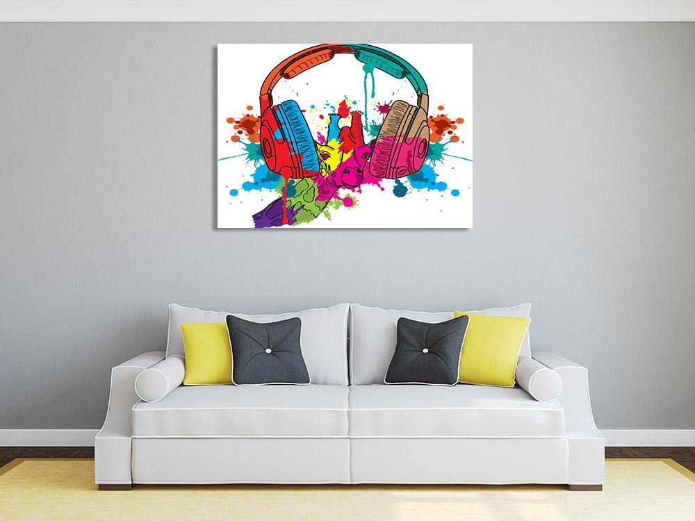 Musical Pop Art on Canvas
