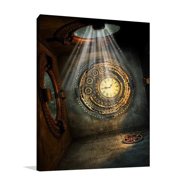 Mystical Metal Clock Print