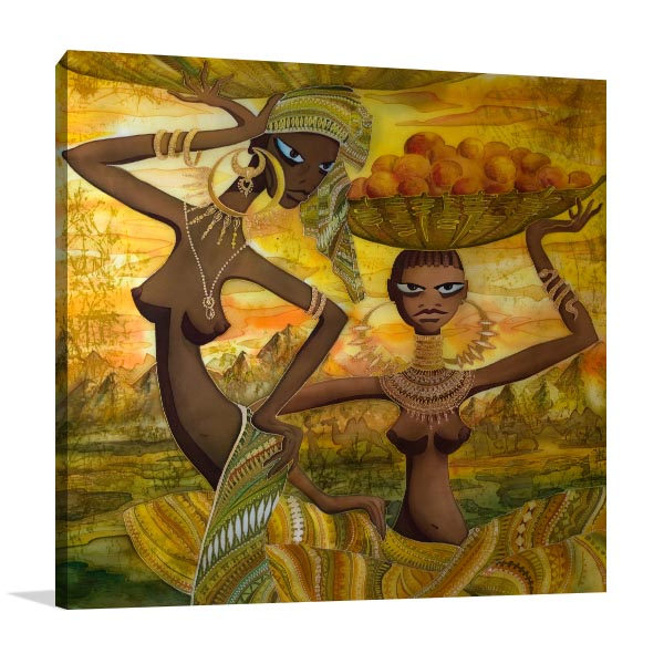 Naked African Girls Canvas Art Prints