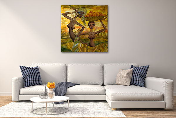 Naked African Girls Canvas Prints