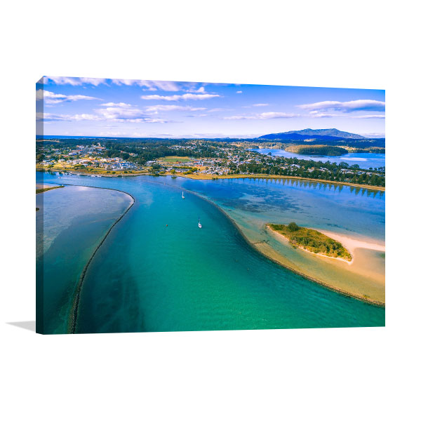 Narooma Wall Art Print Aerial NSW Artwork Canvas