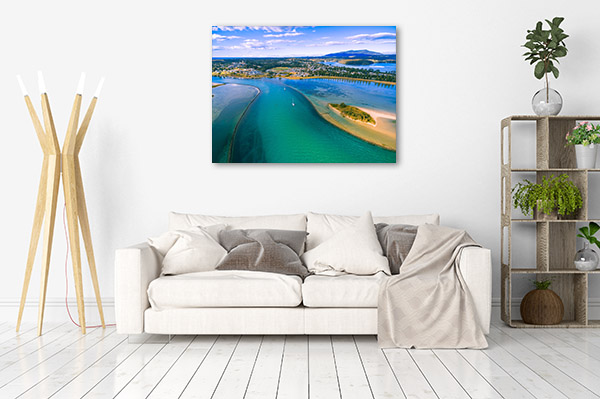 Narooma Wall Art Print Aerial NSW Artwork