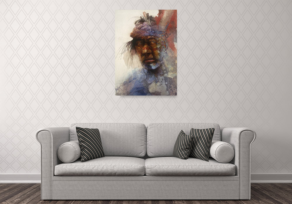 Figurative Indian Wall Art Canvas