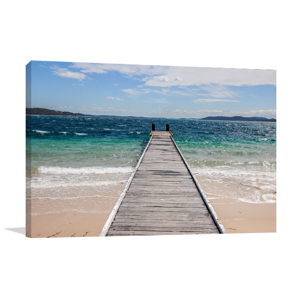 Nelson Bay Canvas Print Jetty NSW Picture Art
