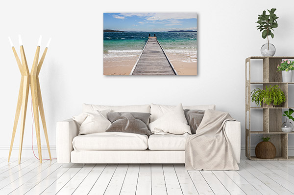 Nelson Bay Canvas Print Jetty NSW Wall Picture