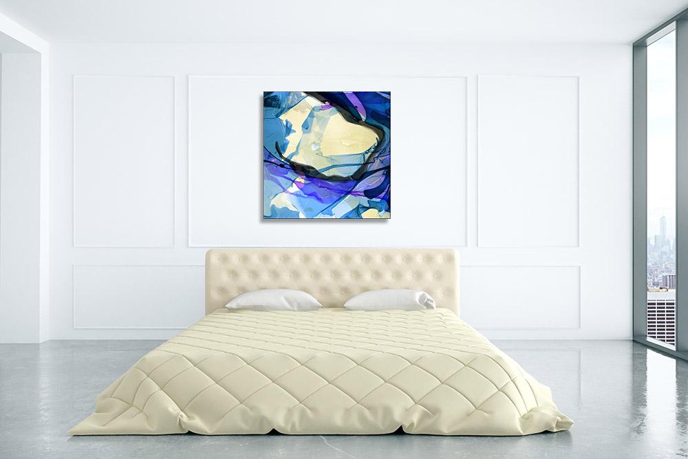 Dye Blue Water Art Canvas Print