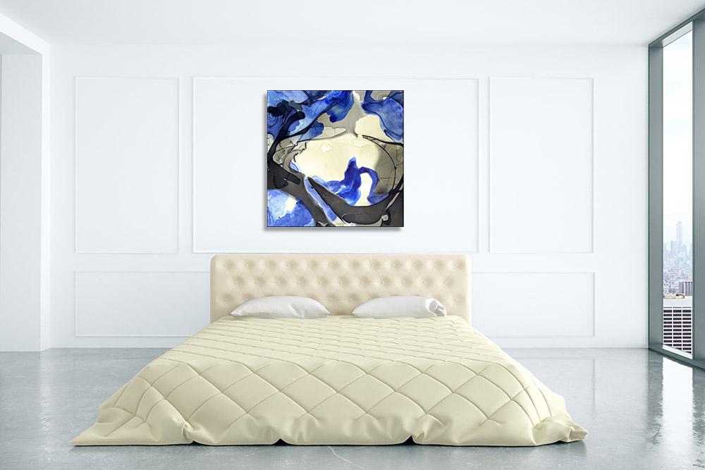 Canvas Print Dye Art Abstract Blue