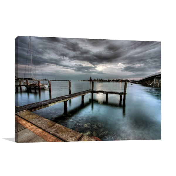 New South Wales Art Print Tuncurry Jetty Artwork Canvas