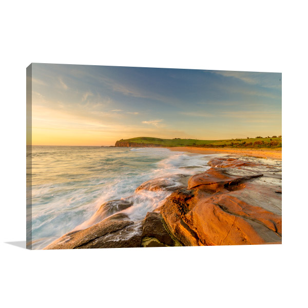 New South Wales Canvas Print Gerringong Beach Artwork Picture